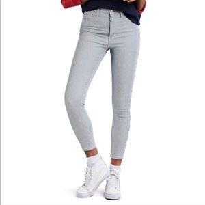 LOGG Micro Stripe Skinny Ankle Jeans